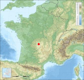 Situation de saint quentin la chabanne sur la carte de france for Saint quentin code postal